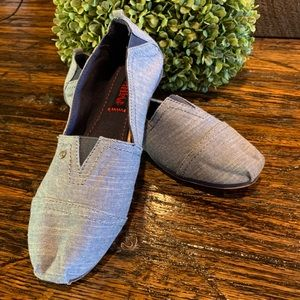 Shoes - MadPole Canvas Slip On Light Blue Denim 7 Flats